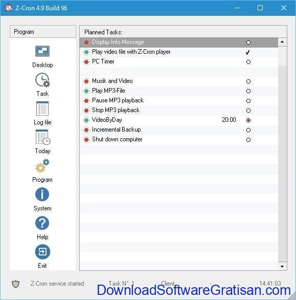 Aplikasi Penjadwal Tugas Gratis Terbaik untuk Windows Z-Cron